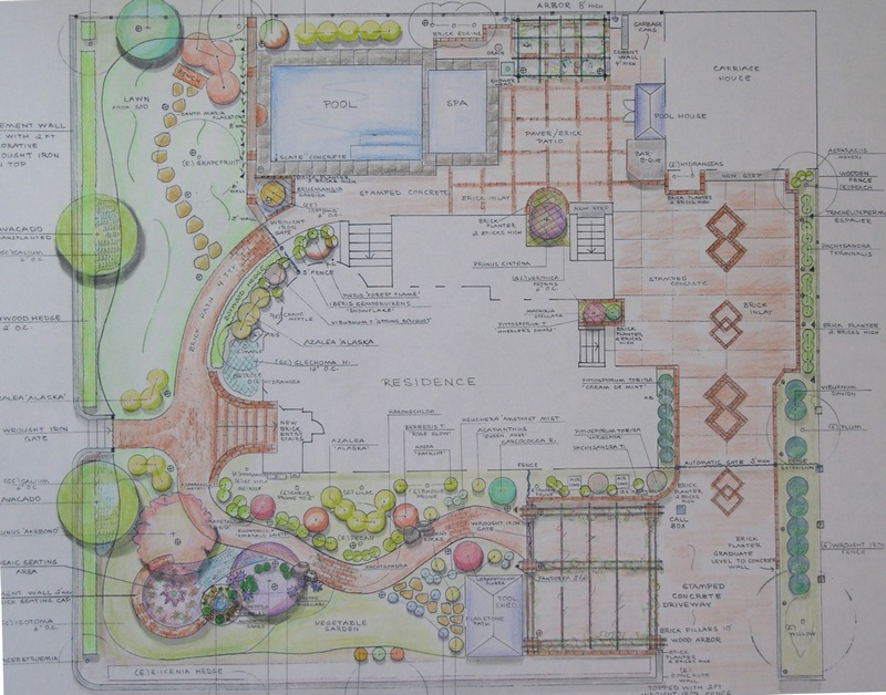 Landscape design drawings the image kid for Landscape plan drawing