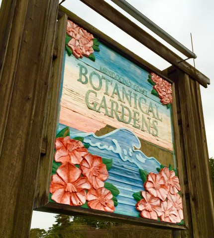 Mendocino Coast Botanical Gardens sign