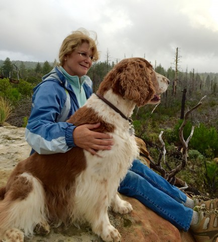 The author and Sherman, a Welsh Springer Spaniel, at the Bonny Doon Ecological Reserve. Photo by Tom Trower